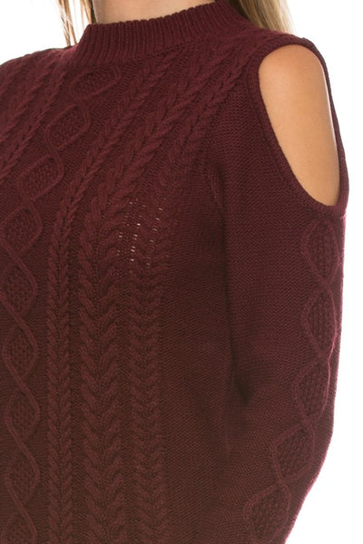 Giving The Cold Shoulder Sweater