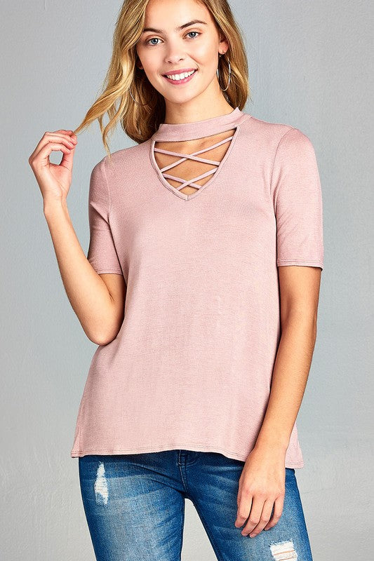 Lady Boss Double Criss Cross Top