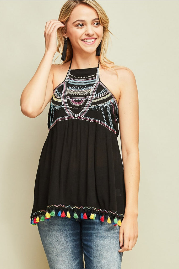 Tequila Embroidered Tank