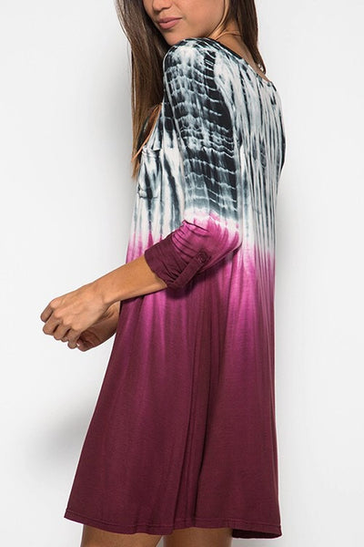 Wine Me Dine Me Ombre Dress