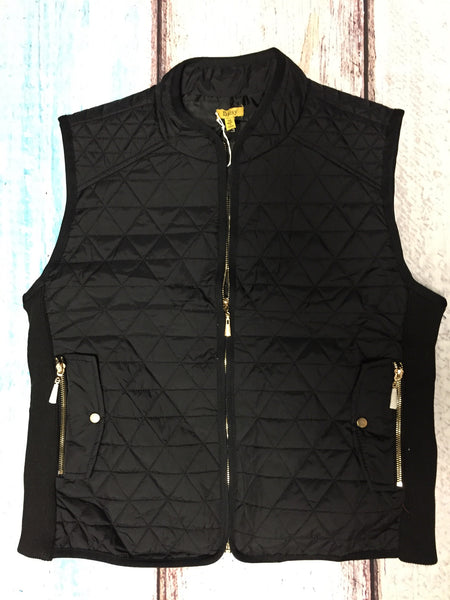 Curvy~ Vested Interest Quilted Vest