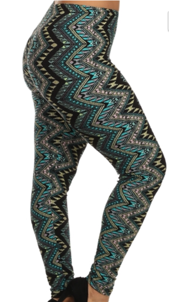 Curvy/Tall~ ZigZag Leggings