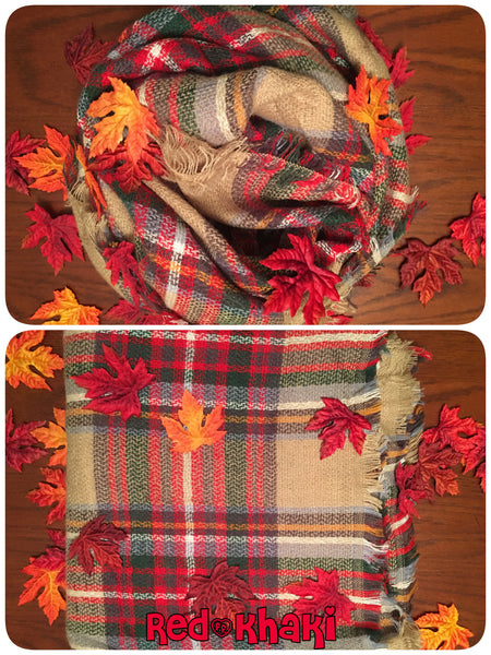 Blanket Plaid Scarf~ multiple color options