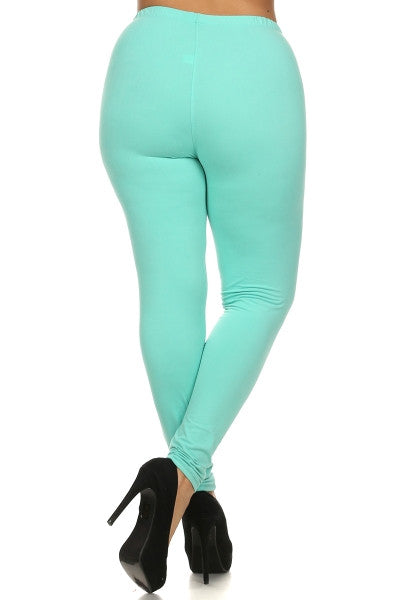 Curvy/Tall~ Solid Color Leggings (multiple options)