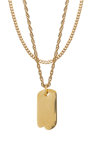 Mister Micro Tag Necklace - Gold-ACCESSORIES,FOR HER-Mister SFC