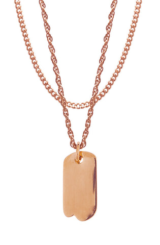 Mister Micro Tag Necklace - Rose Gold-ACCESSORIES,FOR HER-Mister SFC
