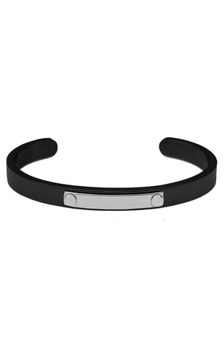 *Mister Triaxle Cuff Bracelet - Black & Chrome-ACCESSORIES,FOR HER-Mister SFC