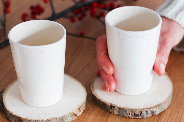 Customed made ceramic cup- Gaelle Stratman for Cocotte French Lifestyle- Photo by Victoria Roland