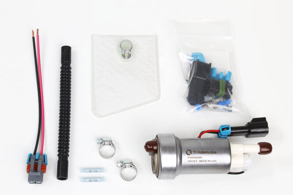 Walbro F90000285 Hellcat E85 High Performance Fuel Pump 525 LPH + 400-1168 Installation Kit
