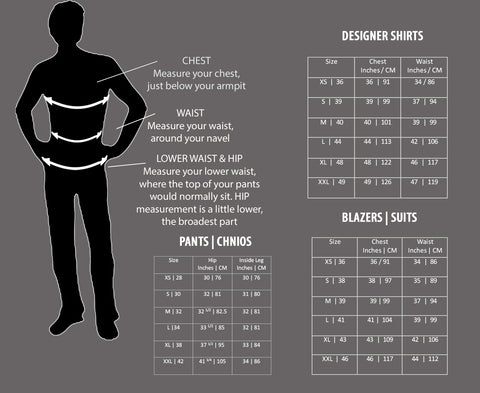 Size Guide Smart Suit