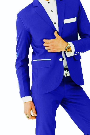Bond SmartSuit | Jacket | Cobalt Blue & White Satin