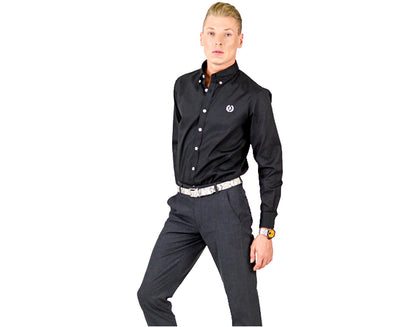 Oxford Button Down Business Shirt | Black
