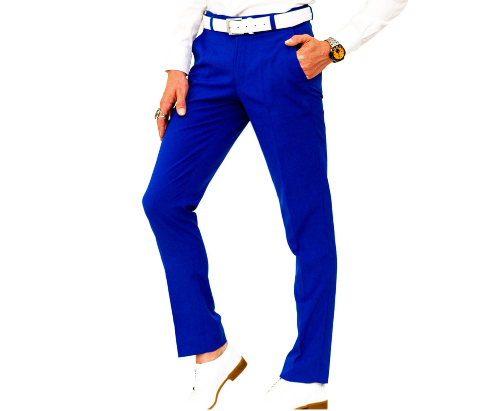 Cobalt Blue Suit Pants | matches Bond Smart Suit
