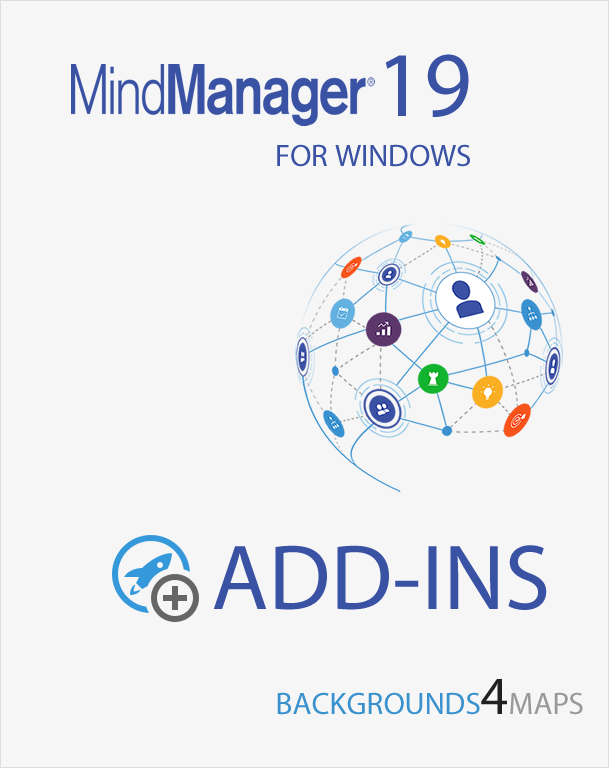 Mindjet MindManager Backgrounds4Maps for MindManager 19