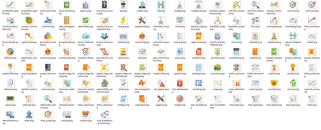 Icons4maps Project Management Pack for Mindjet MindManager 18,MindManager add-ins,Mindlogik