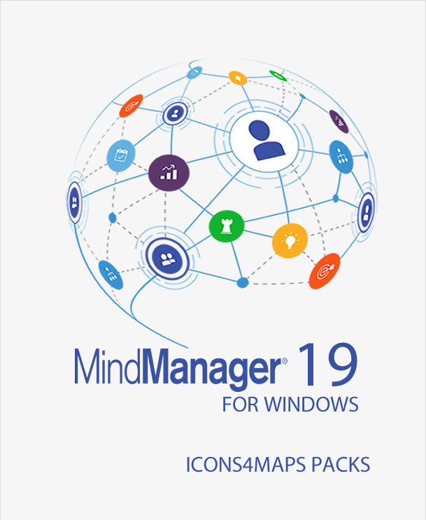 Icons4maps Complete Icons and Images Pack for Mindjet MindManager 19,MindManager add-ins,Mindlogik