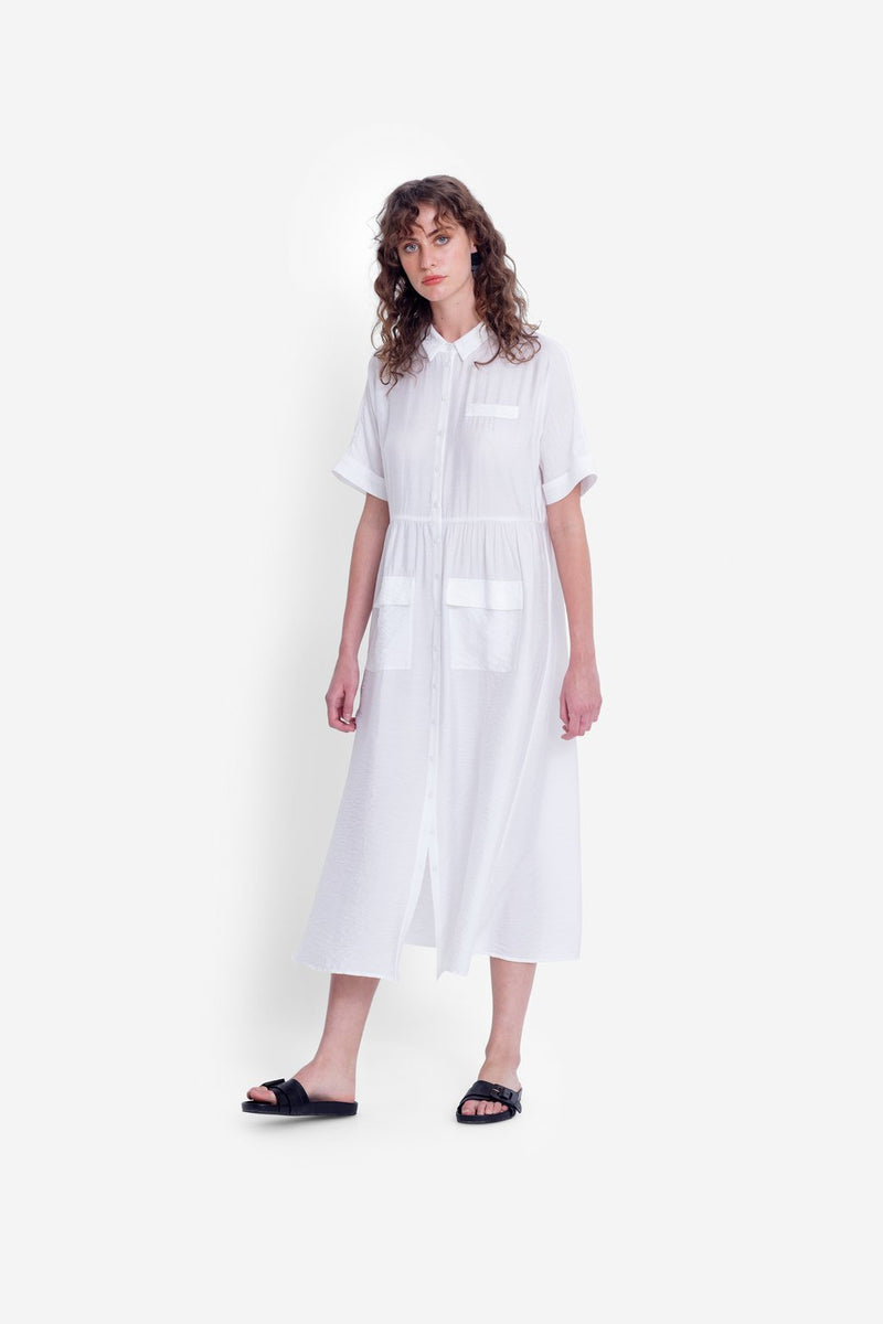Aissa Shirt Dress WHITE