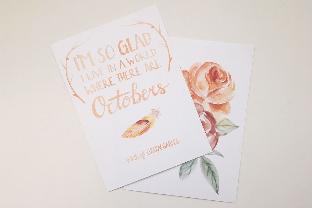 Art Print Set: I'm so glad I live in a world where there are Octobers