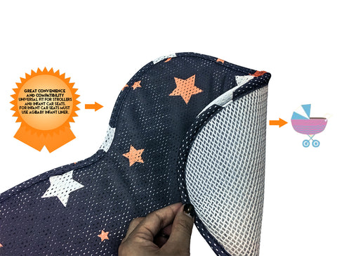 Agibaby 3D Air Mesh Premium Cool Seat Liner For Stroller & Carseat- Whales Universe