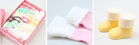 Six pack Newborn/Infant non skid Cupcake Socks