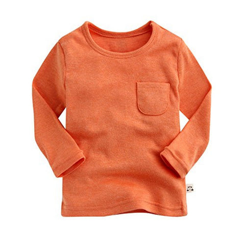 Agibaby Boys and Girls Infant & Toddler Long Sleeve Basic Pocket Shirt