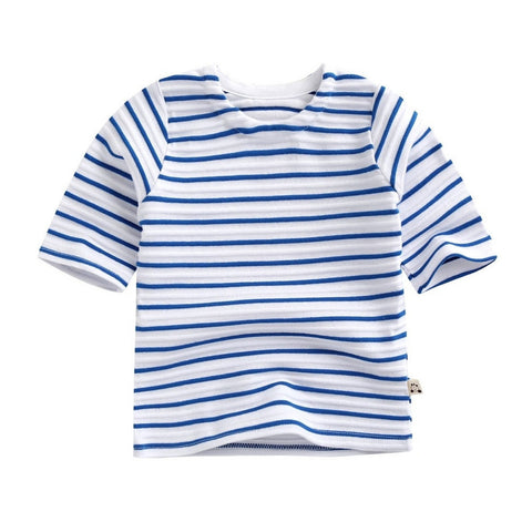 Agibaby Boys and Girls Infant & Toddler 3/4 Sleeves  Raglan Stripes Shirt