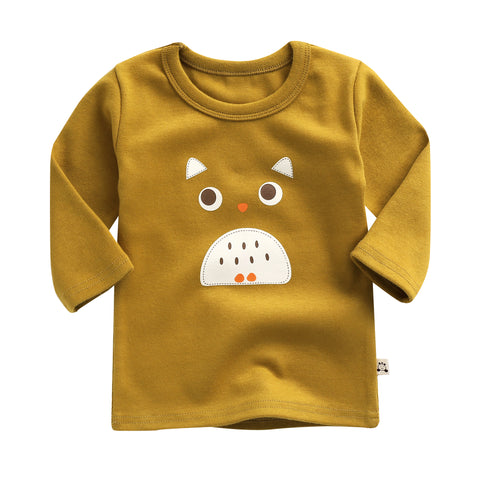 "Agibaby Boys and Girls Infant & Toddler long Sleeves Tshirts ""Owl"""