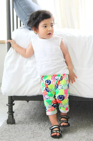 Boys and Girls 100% Cotton Cool Pants- Smile