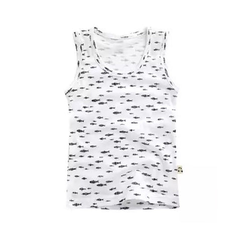 "Boys Infant & Toddler Short Sleeveless Tshirts ""Black Fish"""