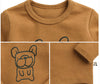 "Image of Agibaby Boys and Girls Infant & Toddler long Sleeves Tshirts ""Bulldog"""