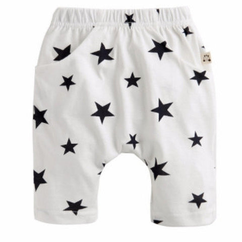 Agibaby Infant & Toddler Boys & Girls 100% Cotton Capri Star Pants
