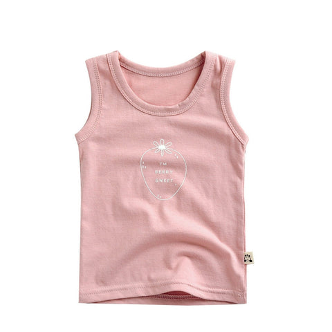 Agibaby Infant & Toddler Unisex 100% Cotton Candy Sleeveless Tshirt
