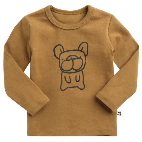"Agibaby Boys and Girls Infant & Toddler long Sleeves Tshirts ""Bulldog"""