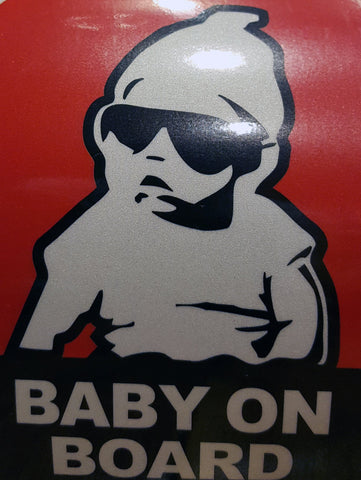 Baby on Board Reflective Sticker- The Hangover 2