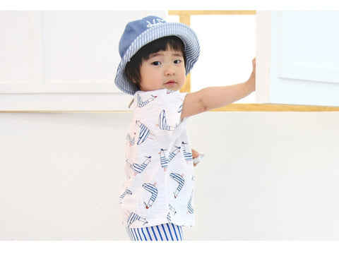 Agibaby Infant & Toddler Boys & Girls Cotton Marine Seagull Tshirt