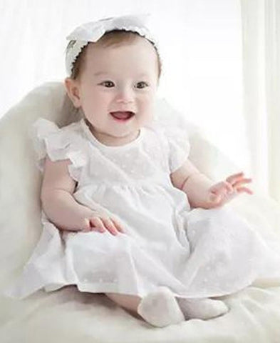 Agibaby Kkakkungnoriter 100% Cotton Infant & Toddler Baby Meriel Dress Made in South Korea