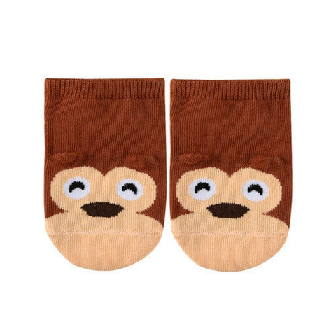 Cute Animal Ankle Socks- Monkey