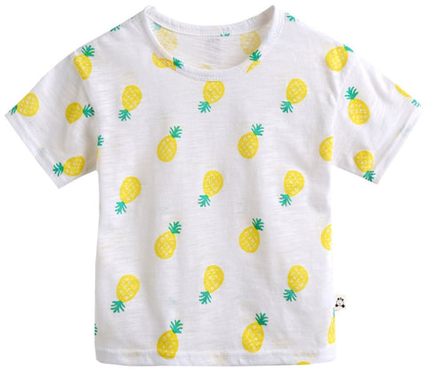 Agibaby Infant & Toddler Boys & Girls 100% Cotton Pineapple Tshirt