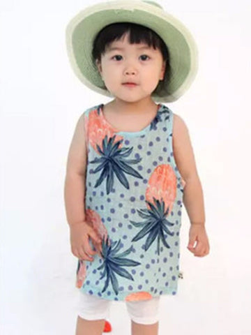 Girls Infant & Toddler 100% Cotton Pineapple Dress