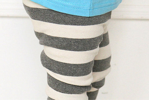 Agibaby Kkakkungnoriter Boys & Girls Baby Stripe Leggings Made in South Korea
