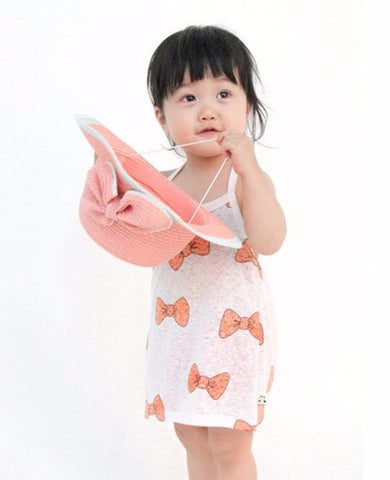 100% Cotton Ribbon halter Sun dress