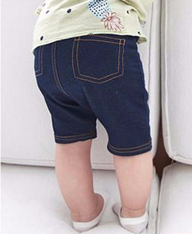 Cotton Capri Soft Leggings- Faux Denim Style