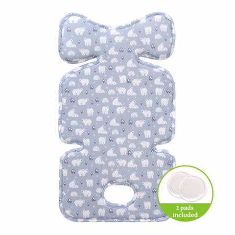 Agibaby Bebenuvo 3D Air Mesh Premium Cool Seat Liner- Blue Elephant- 22 unique designs