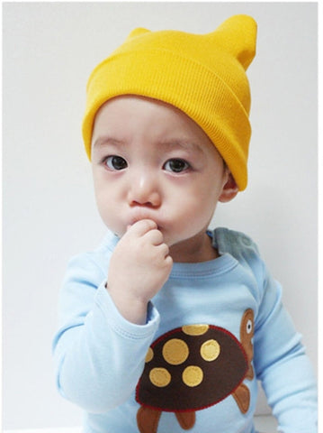 100% Organic Cotton 2 pack Infant & Toddler Boys & Girls Cute Beanie Hats- Multiple Colors