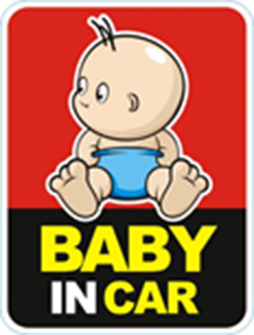 Baby in car reflective sticker 3