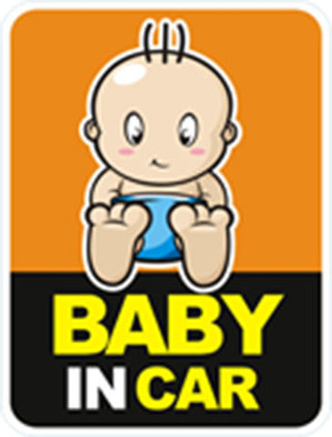 Baby in car reflective sticker 2
