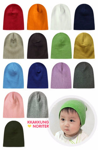 100% Cotton 3 pack Infant & Toddler Cute Beanie Hats- Red/ Pink/ Light Purple