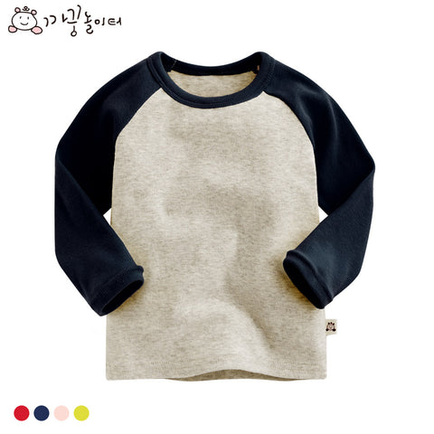 Agibaby Boys and Girls Infant & Toddler Long Sleeve Baseball T-shirt (Winter version)