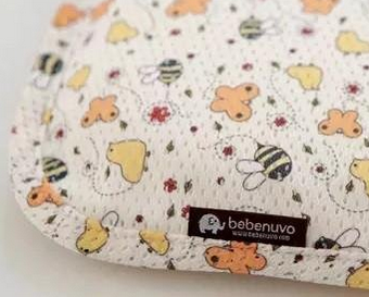 Bebenuvo Hygiene 3D Air Mesh Bacteria-Free Cooling  Breathable Baby Pillow- Bumbo Bee