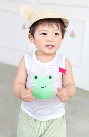 Boys & Girls Froggy Sleveless T-Shirt